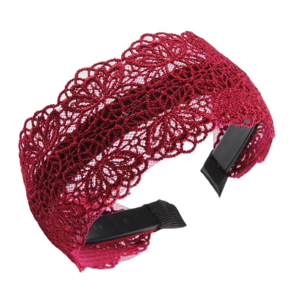 Wide l Lace Stirnband Frauen und Mädchen Headwear Haar Hand
