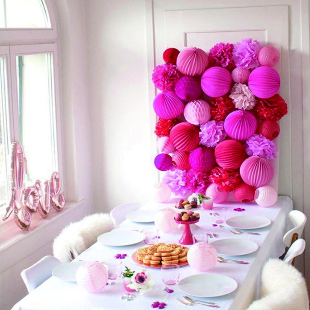 Multi Colors Paper Lantern Ball Tissue Party Wedding Birthday Hanging Decor 20cm