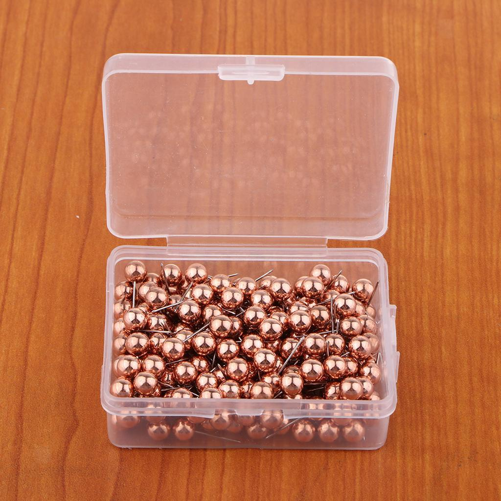 100//200 Metal 6mm Ball Push Pins Map Tacks For Decoration Notice Cork Boards