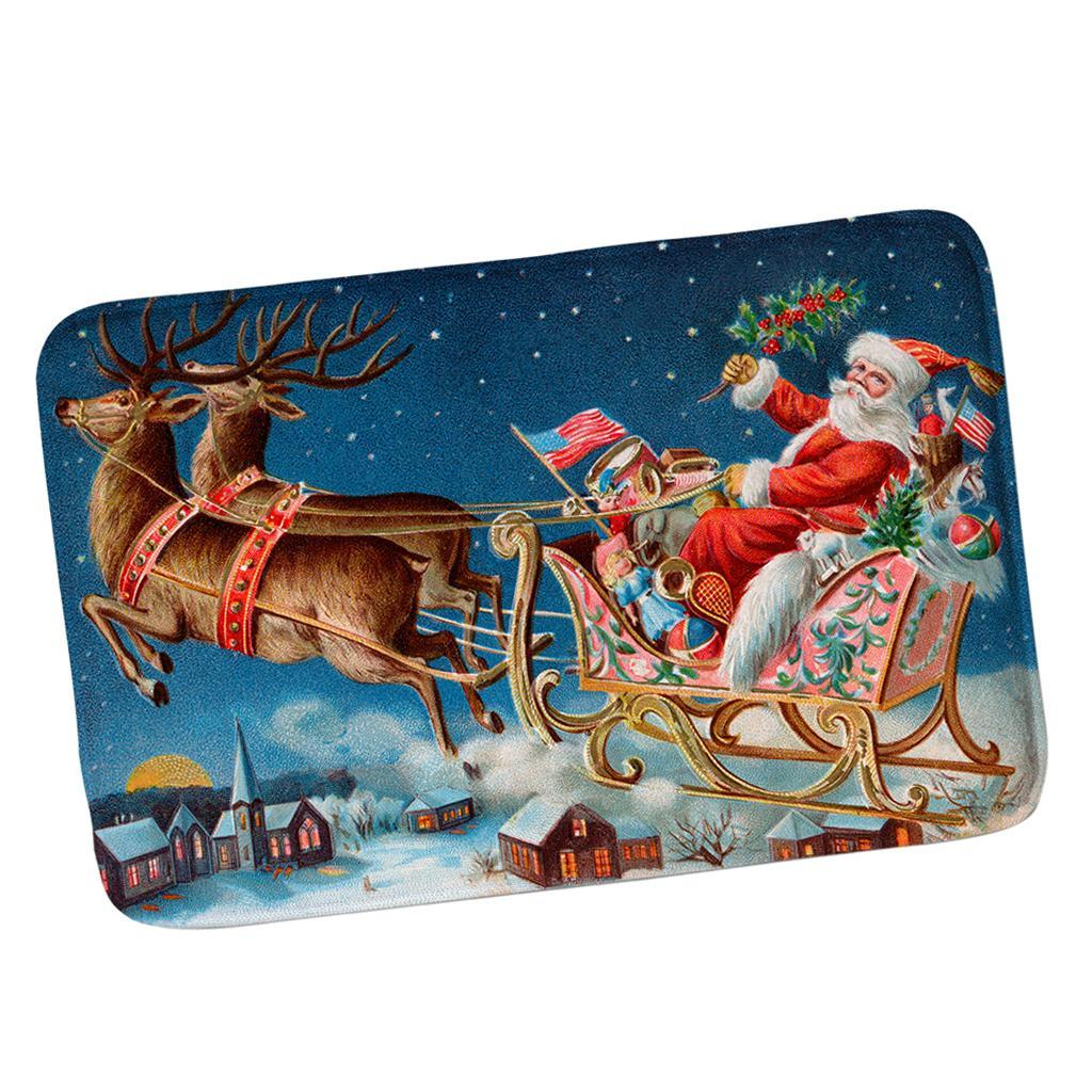 Weihnachten Eingangstür Matte Fußmatte Türmatte Maschinenwaschbar 40x60cm