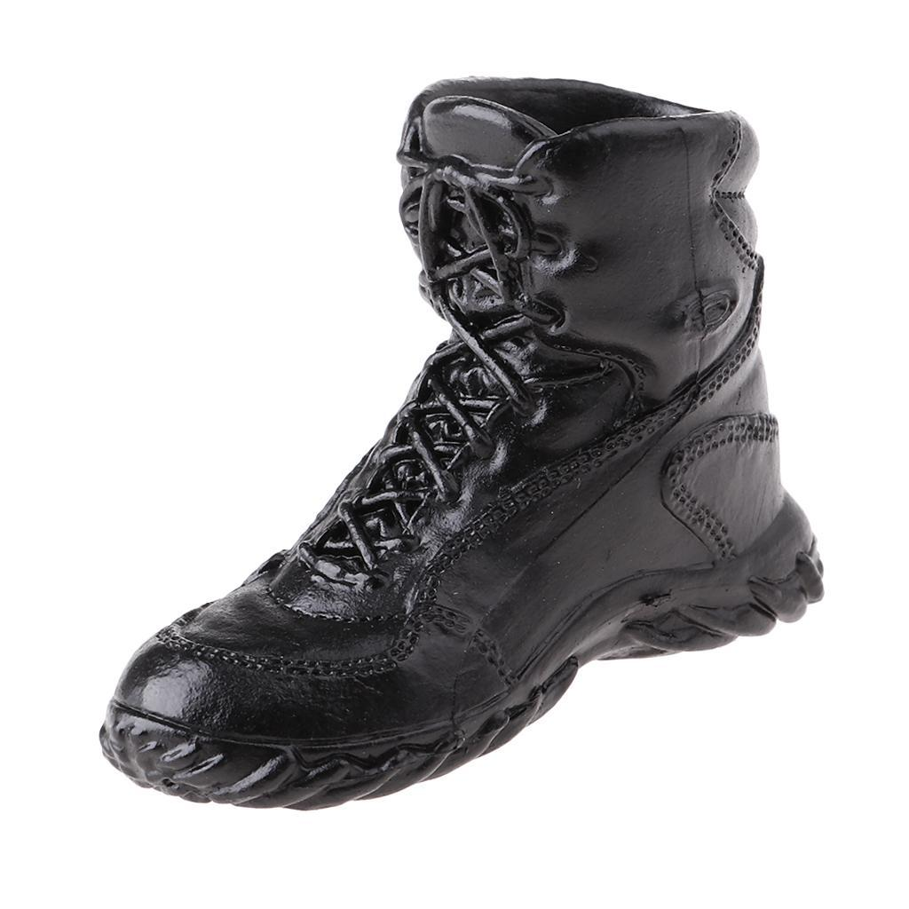 1//6 Lace Up Boots Soldier Shoes for 12/'/' Dragon BBI DML Figure Male Body
