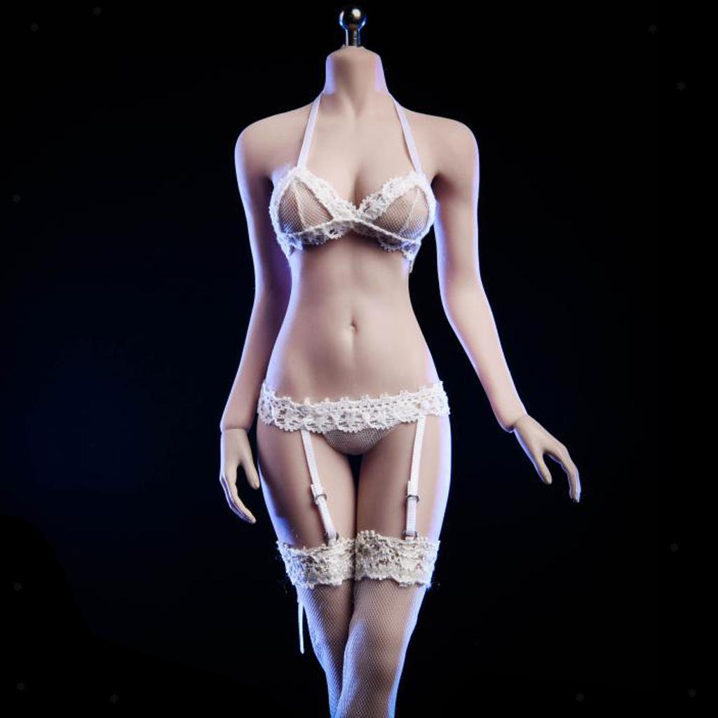 1//6 Female Lace Stockings Action Figure Garter Stockings for Action Figures
