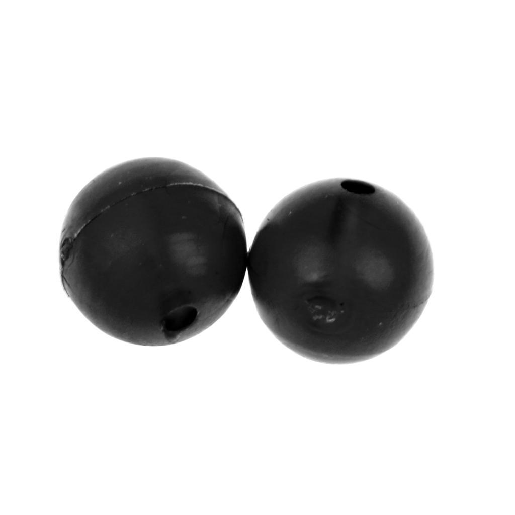 8mm 50x Angeln Haken Stöpsel Wirbel Gummi Perlen Köder Halter Tackle