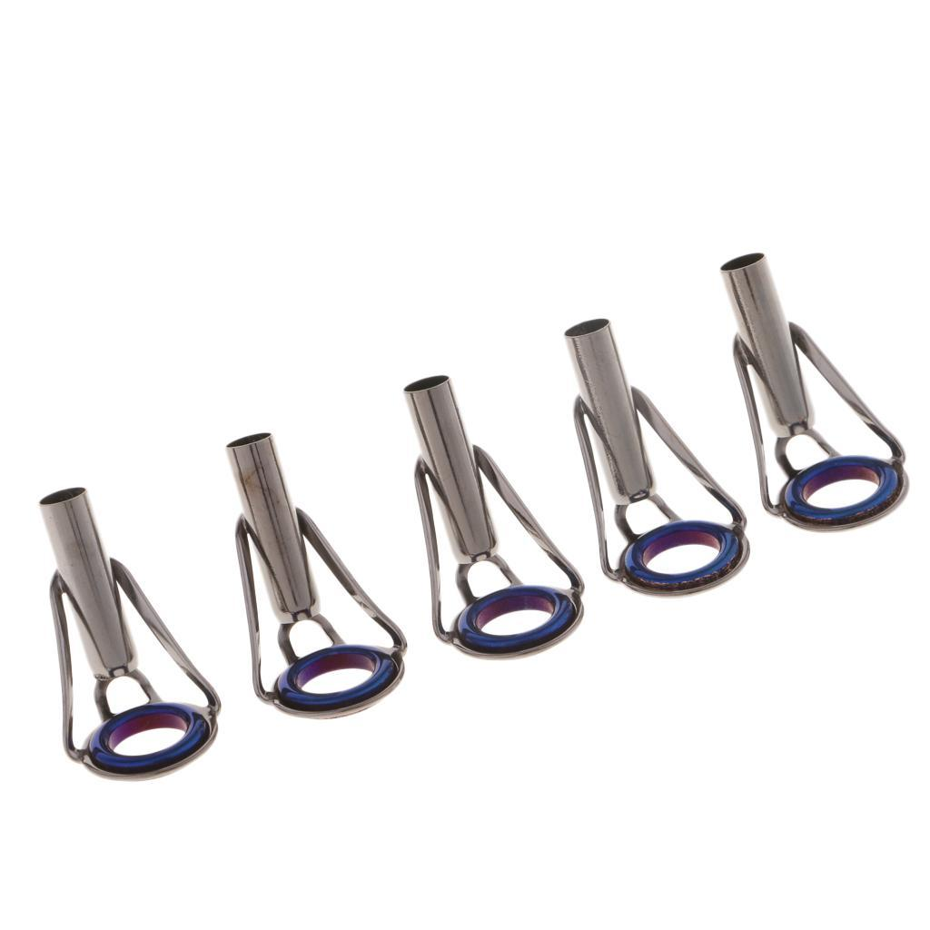 5 Stücke Fliegenrute Guide Set Angelruten Ring Spitze Reparatur Ring