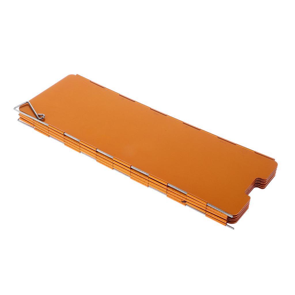 Pare-Vent Pliable Aluminium Portable Plaques Pare-Brise pour Réchaud de