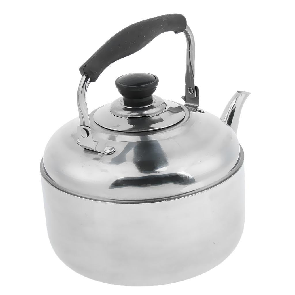 Whistling Kettle Stainless Steel Teapot with Tea Strainer Boil Water Coffee