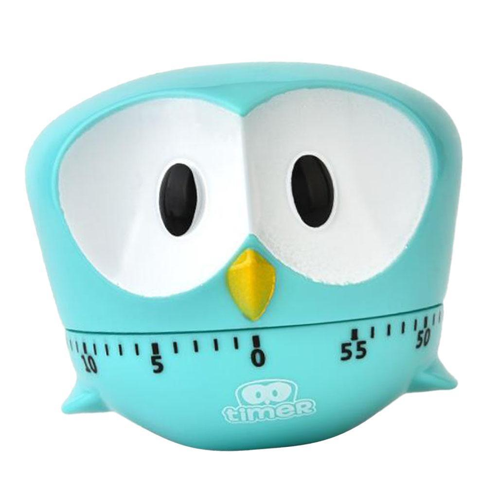 Mini Size Owl Shape Kitchen Timer Manual Mechanical Food Cooking ...