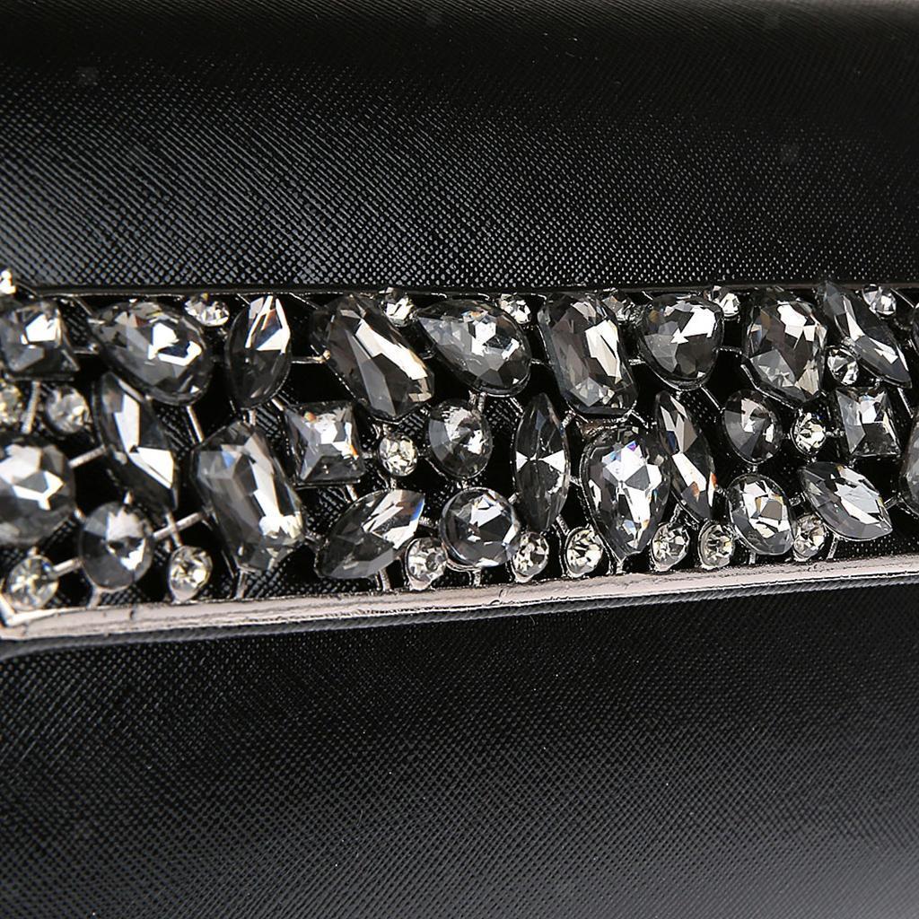 Prettyia Women Crystal Diamante Evening Clutch Bag Wedding Handbag Party Bag