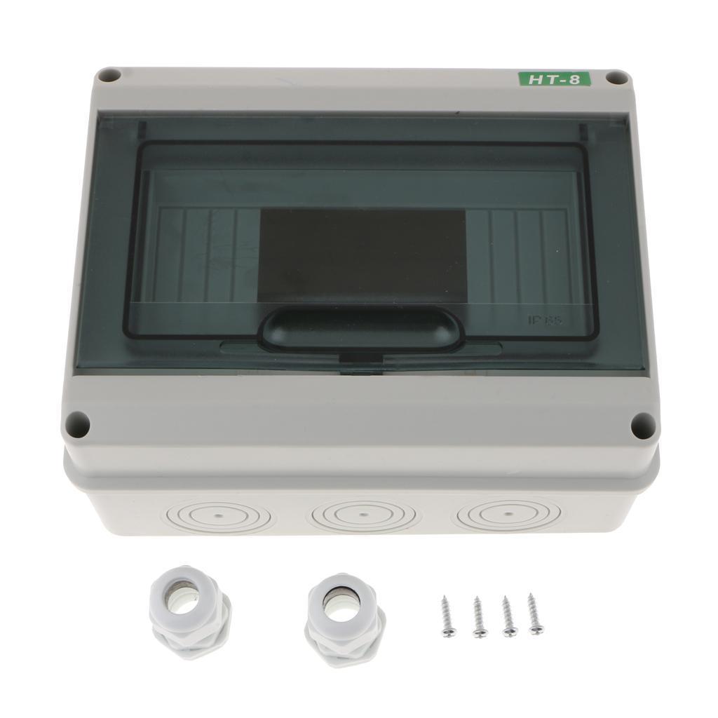Outdoor Waterproof plastic case Enclosure Power junction box 5//8 Ways