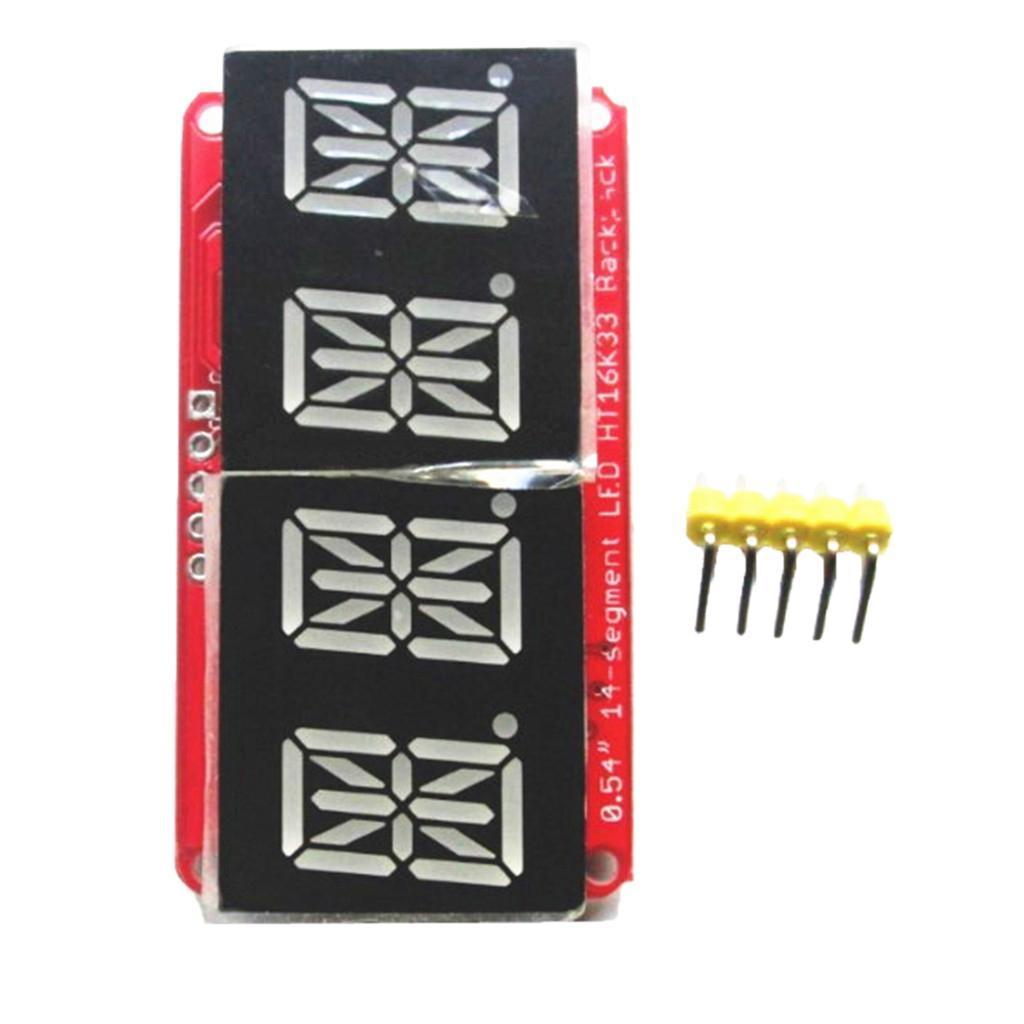 0,54 Zoll 2 Zeilen Steuerung Digital LED duale 14-Segment Display Modul