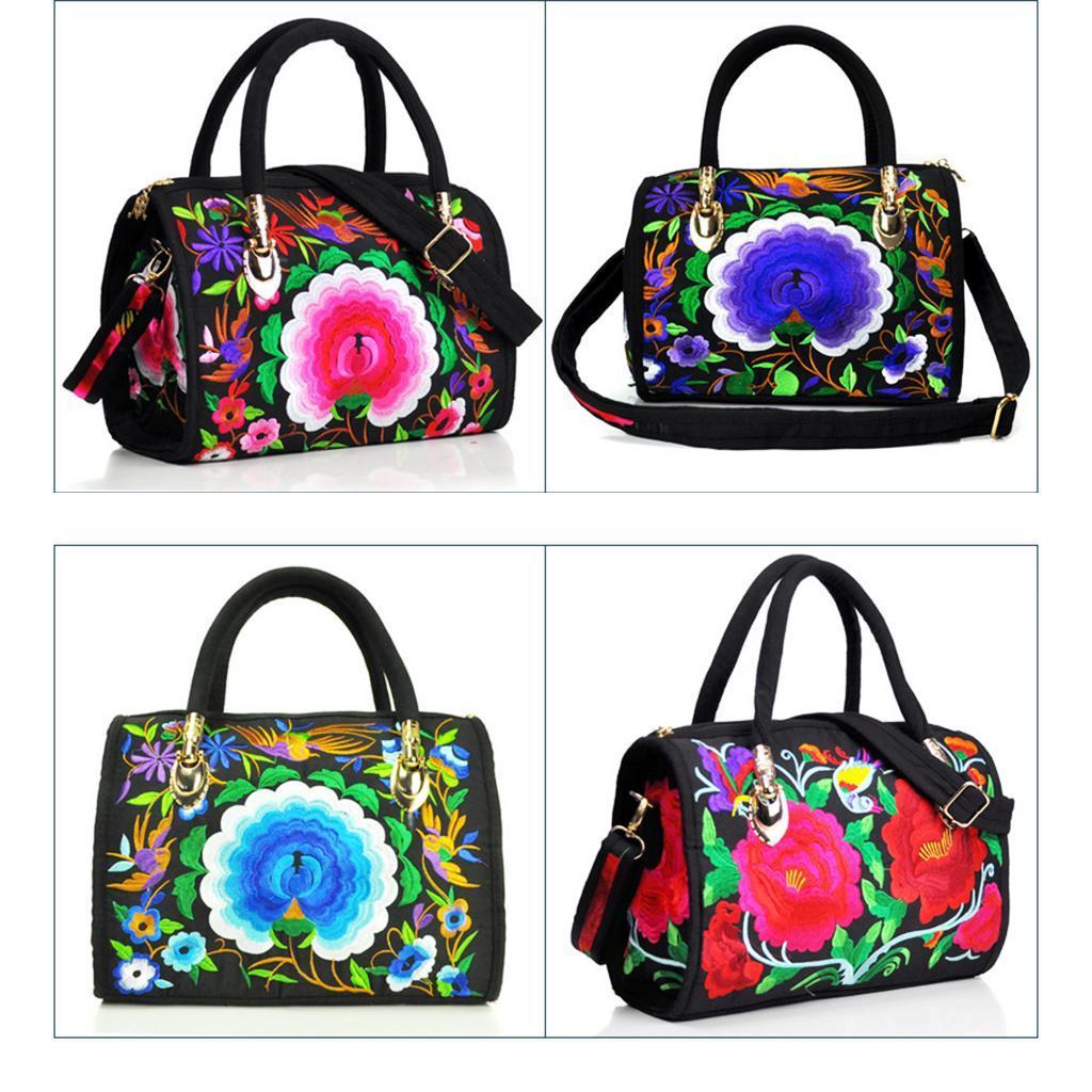 Women/'s 35cm//14inch Zipper Handbag Shopping Bag Tote Floral Shoulder Purse