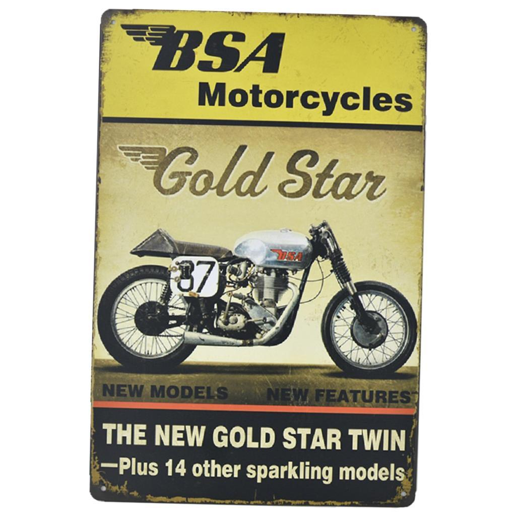 Motorrad Dekoschild Türschilder Blechschilder Metall Schilder