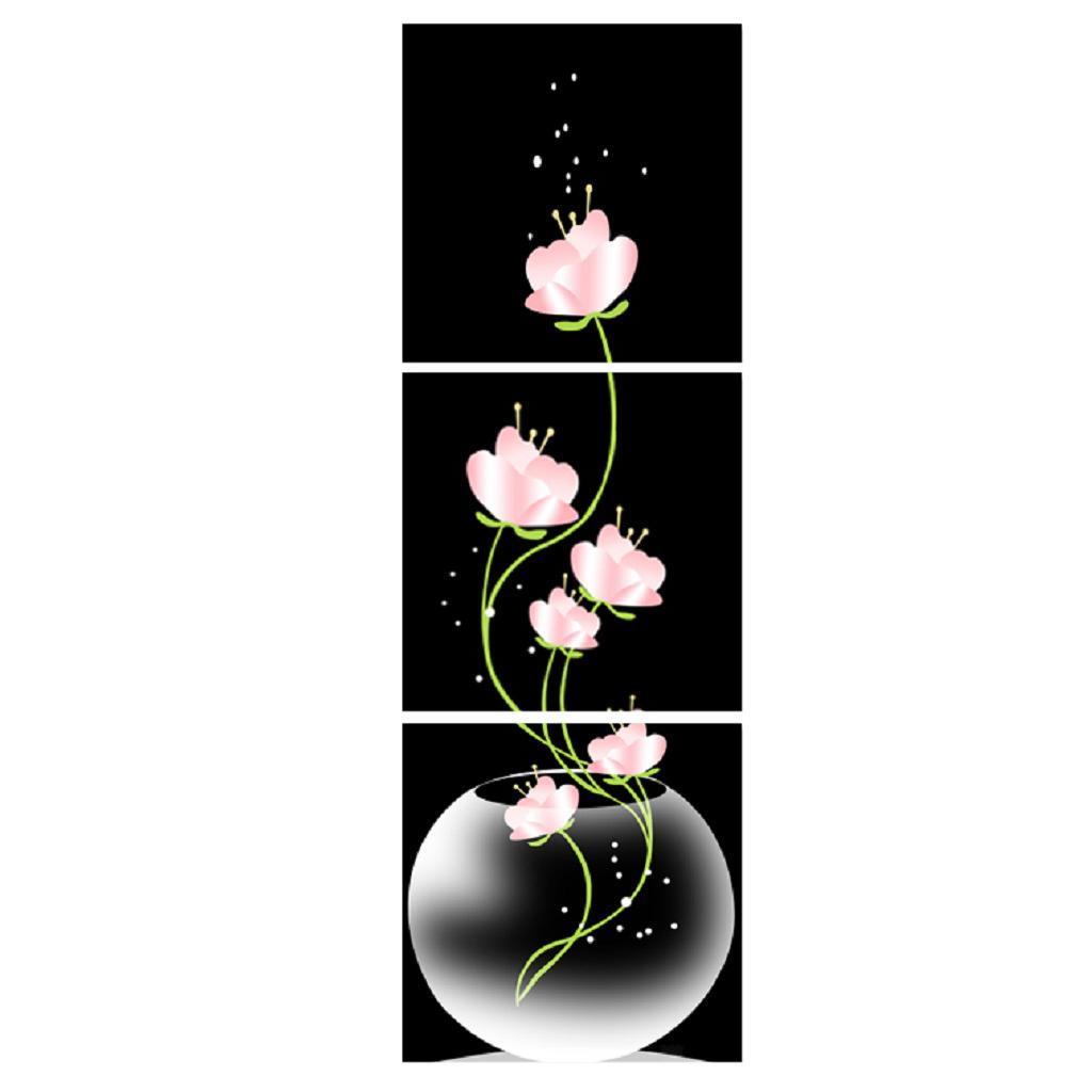 3er-Set Lotus Wandbilder Kunstdruck Leinwand Bilder Set für Wohnzimmer