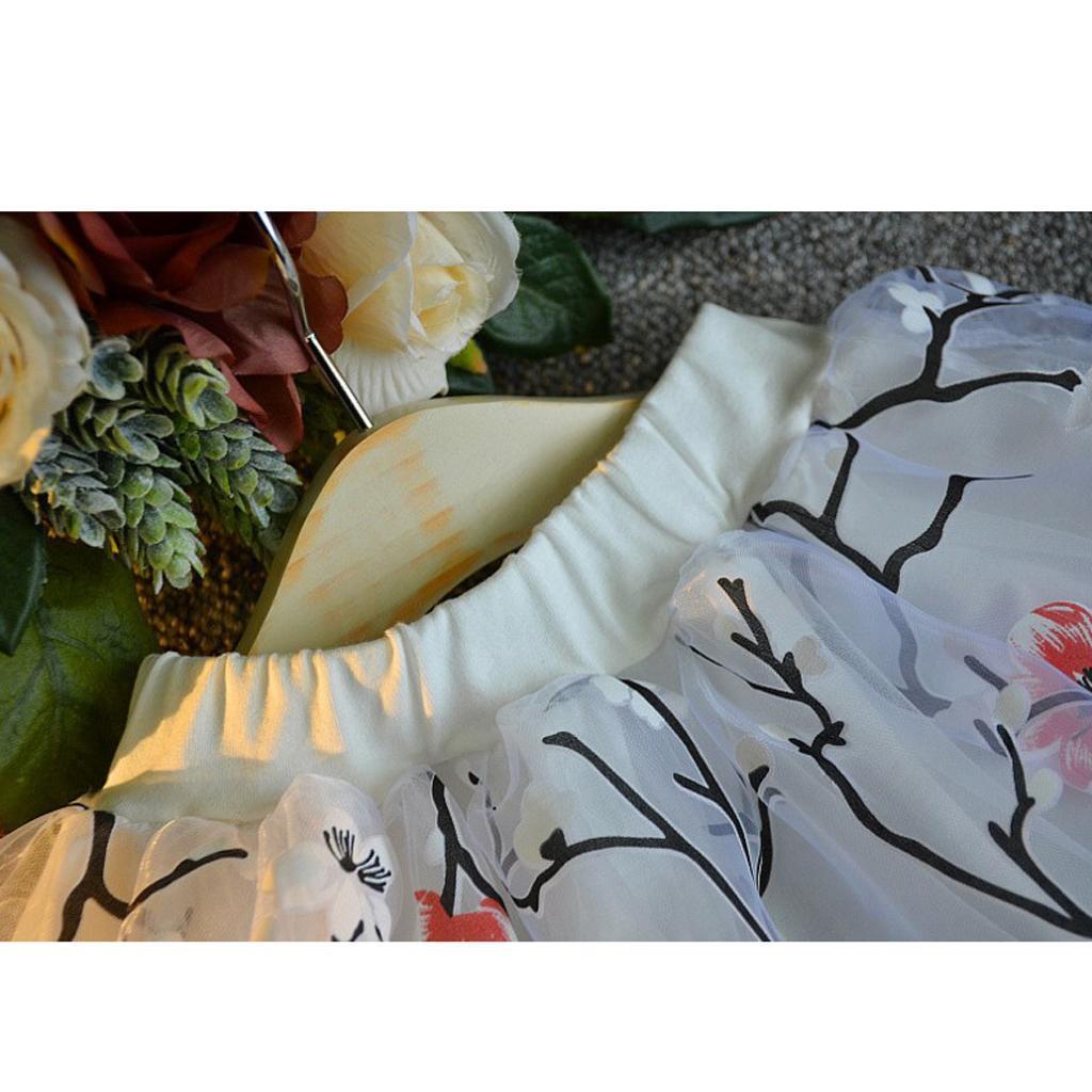 Prettyia Kids Girls Off Shoulder Tops Summer Outfits Floral Dresses Clothes Set