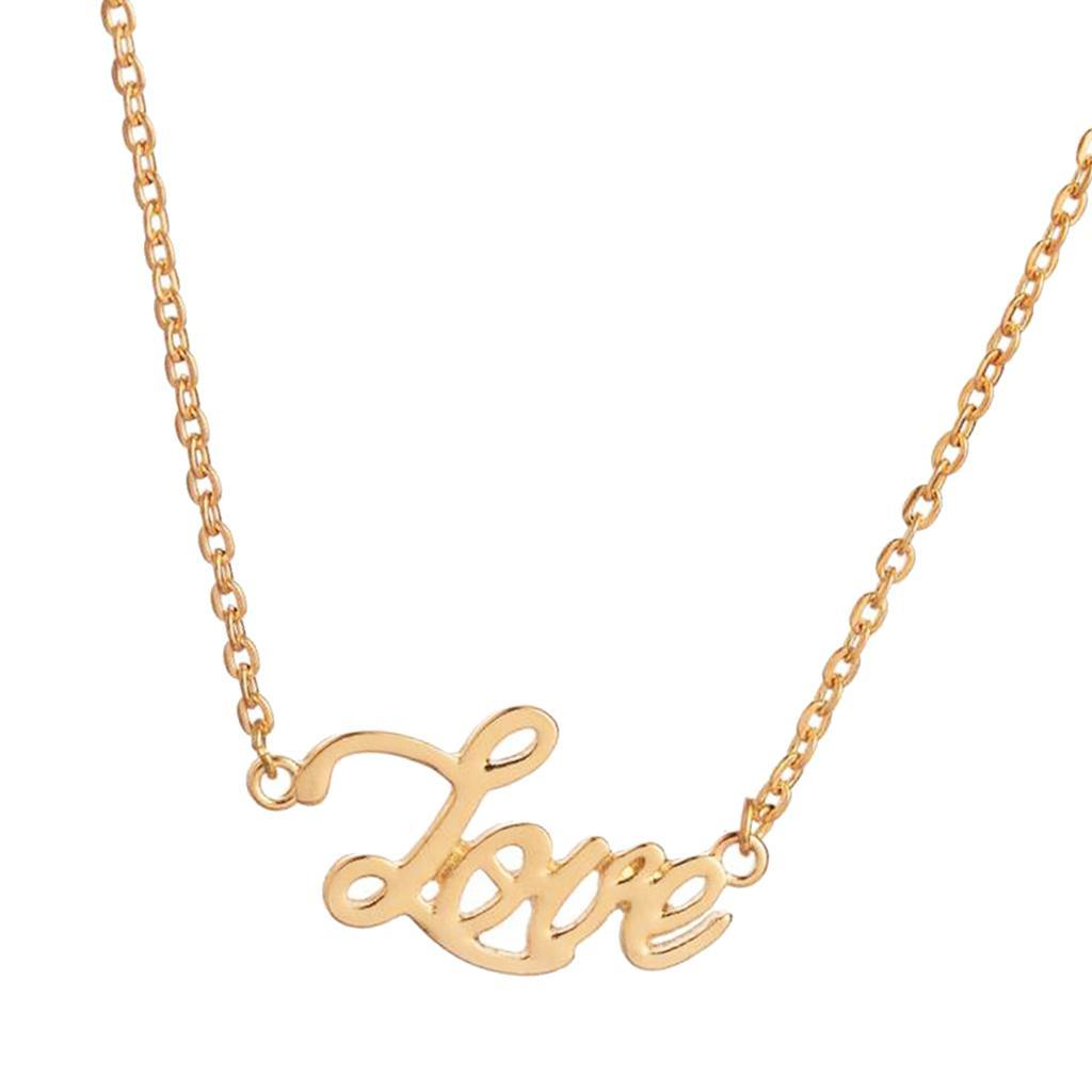 Charms Letter Word Pendant Clavicle Chain Necklace Jewelry Men Women Jewelry