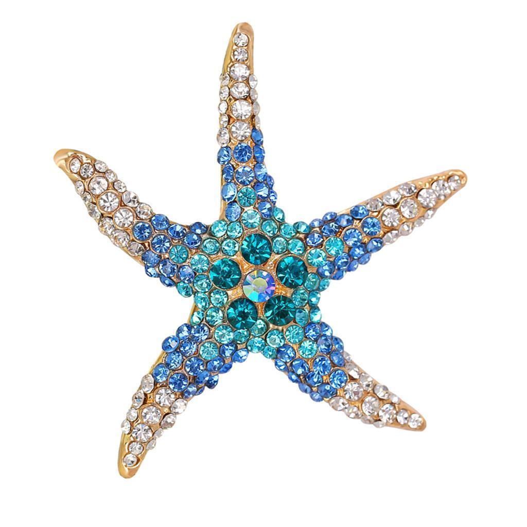 Broche Colore en Forme de Chat Étoile de Mer Cadeaux Anniversaires Amis