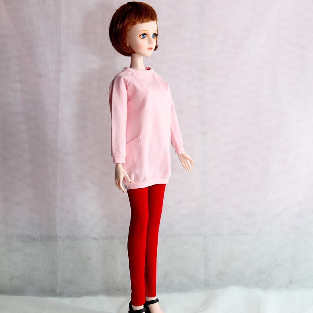 Lovely Casual Short Hoodie Sweater Clothes for 1//4 BJD Doll Outfits Fleece