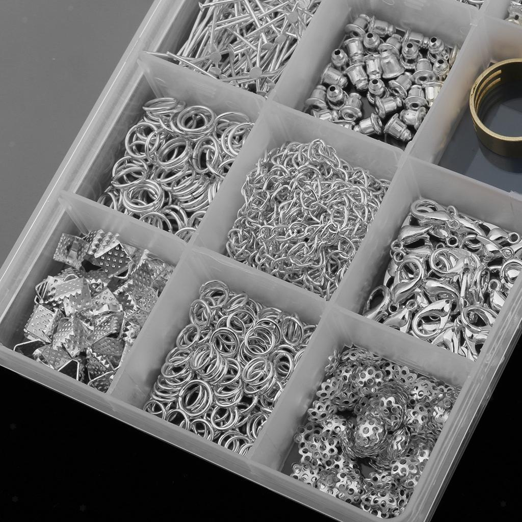 15 Arten Schmuck Machen Starter Kit Ohrring Halskette Armband DIY Tool