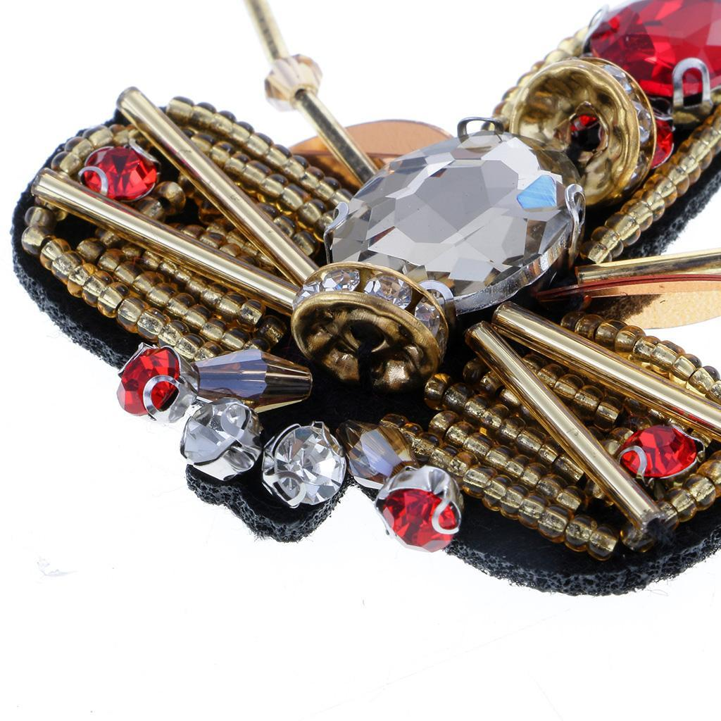 Insects Sequins Rhinestones Beads Applique Patches Clothing Bags Decor Sew On