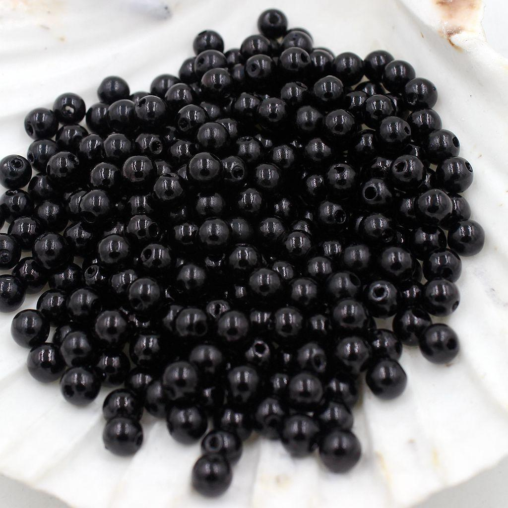 130pcs 8mm Round Plastic Imitation Pearl Spacer Beads for DIY Jewelry Making