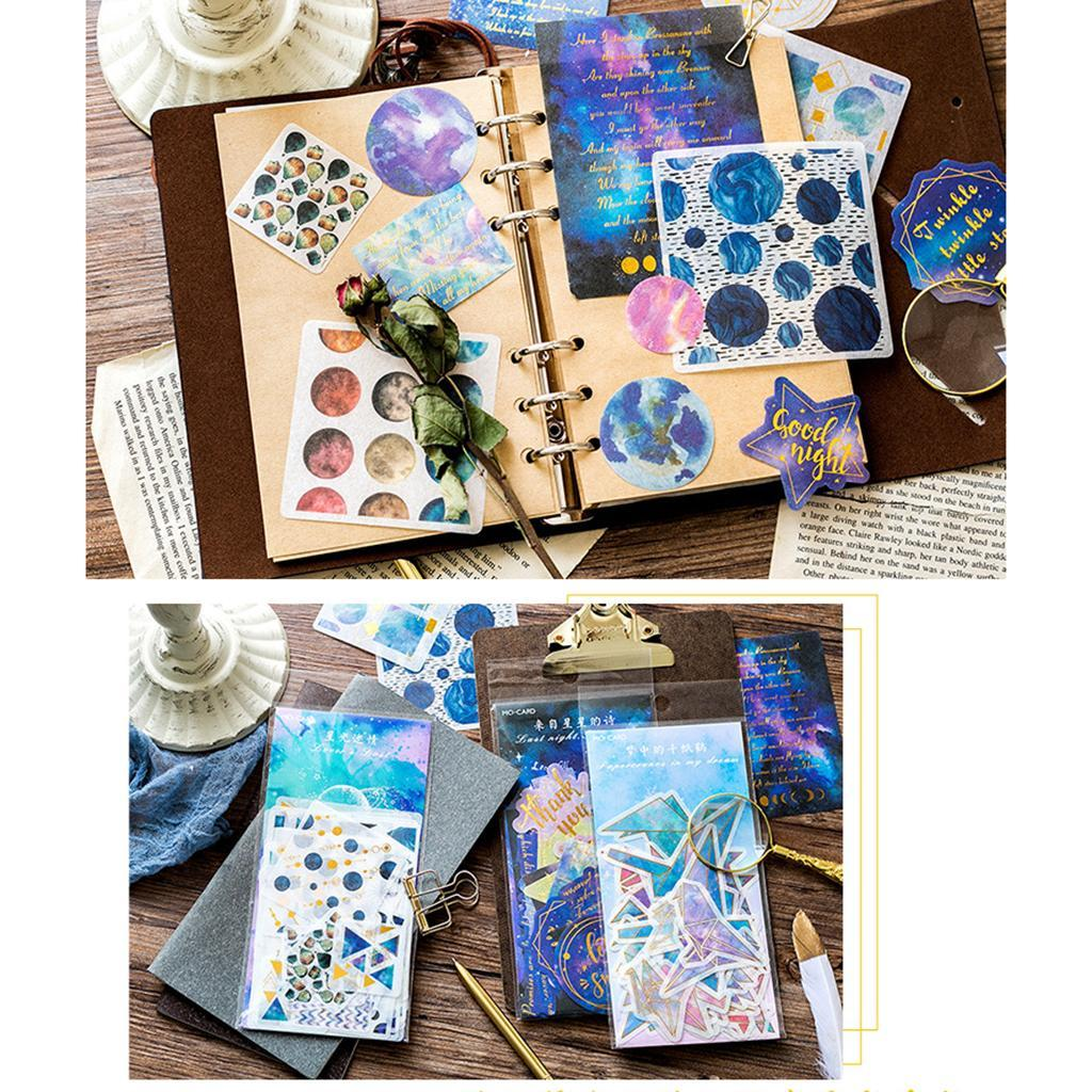 60 Pcs Decorative Sticker Night Star Magic Circle Collection for Kids Crafts