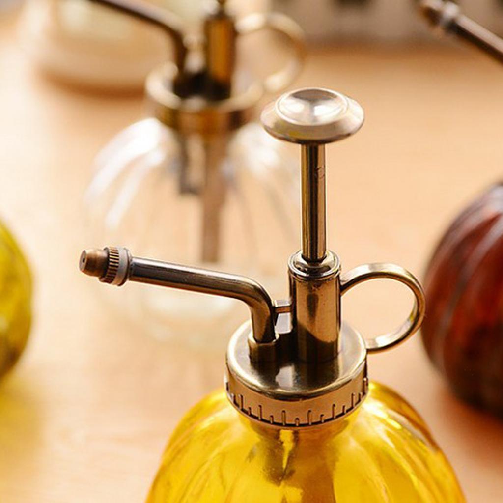 Plants Bottle Retro Retro Glass Watering Pot Garden Hand Pressure Sprayer