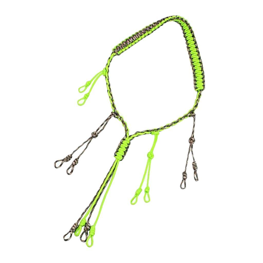 Hand Braided Paracord Duck Whistle Lanyard 12 Adjustable Secure Call Loops