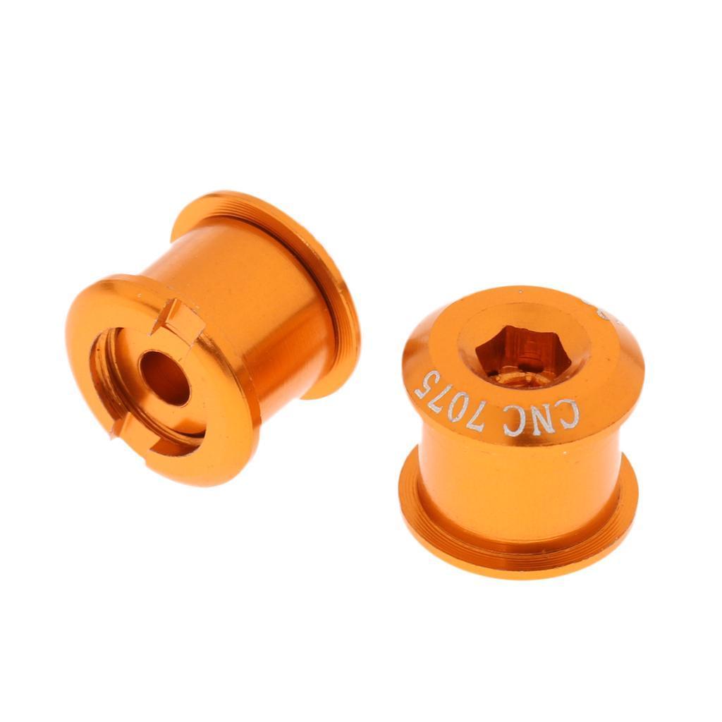 5Pcs Bike Crankset Chainring Bolts /& Nuts Chainwheel Bolts Screws M8x5mm//7mm