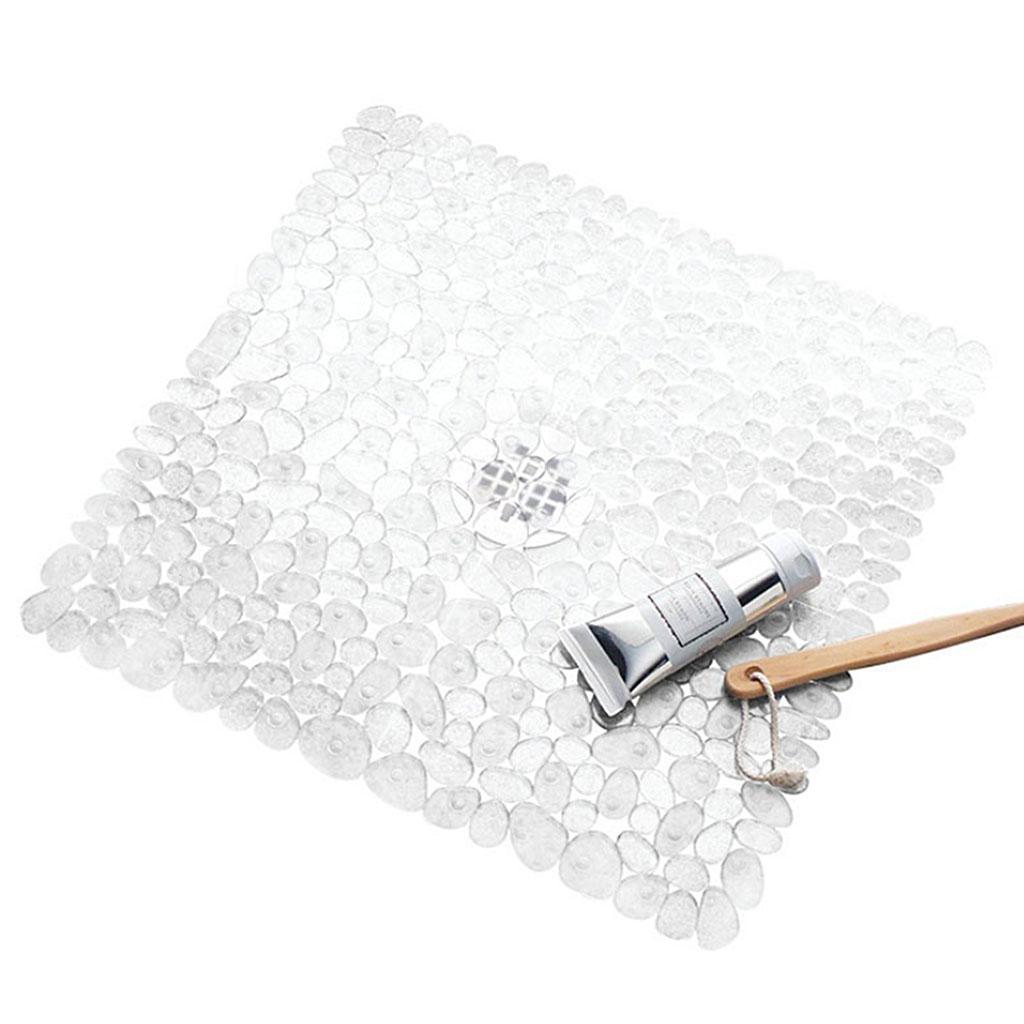 PVC Bathroom Bath Shower Mat Doormat Doormat Kitchen Rug with Draining Holes