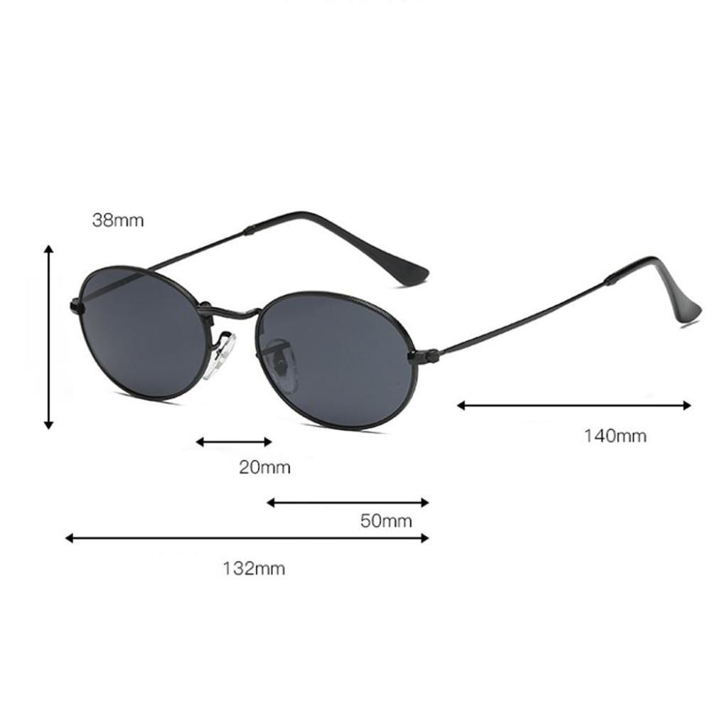 Damen Herren Runde Kunststoffrahmen Sonnenbrille Brille UV-Schutz Rundbrille