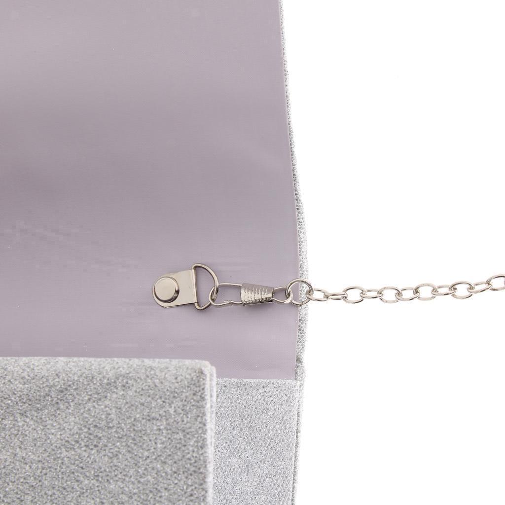 Women/'s Glitter Clutch Bag Wedding Bridal Prom Party Purse Evening Handbags