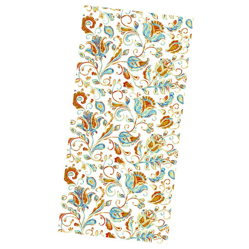 Flower Print Stained Glass Window Film Shower Door Privacy Filter Home Decor