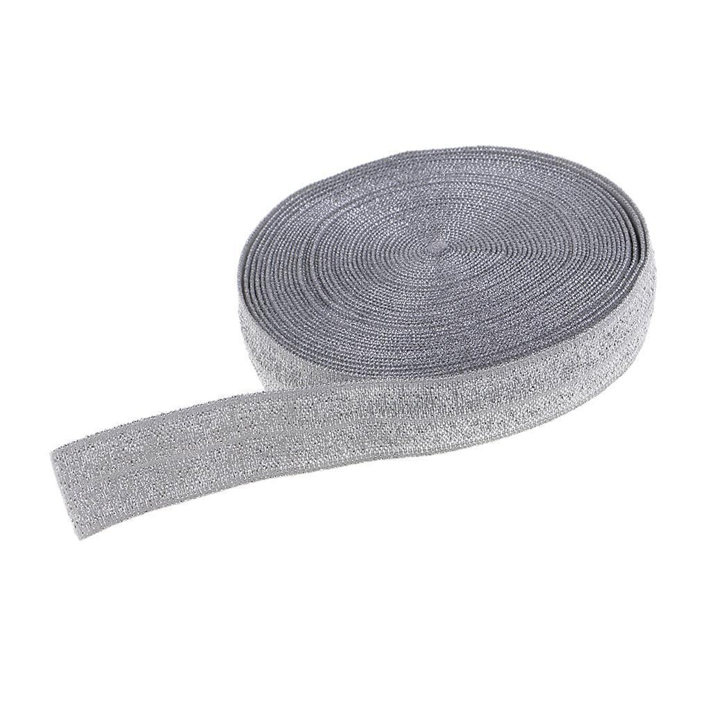 5 Meter Kurzwaren Gummiband Glitzer 15cm breit elastisch Glitzerndes