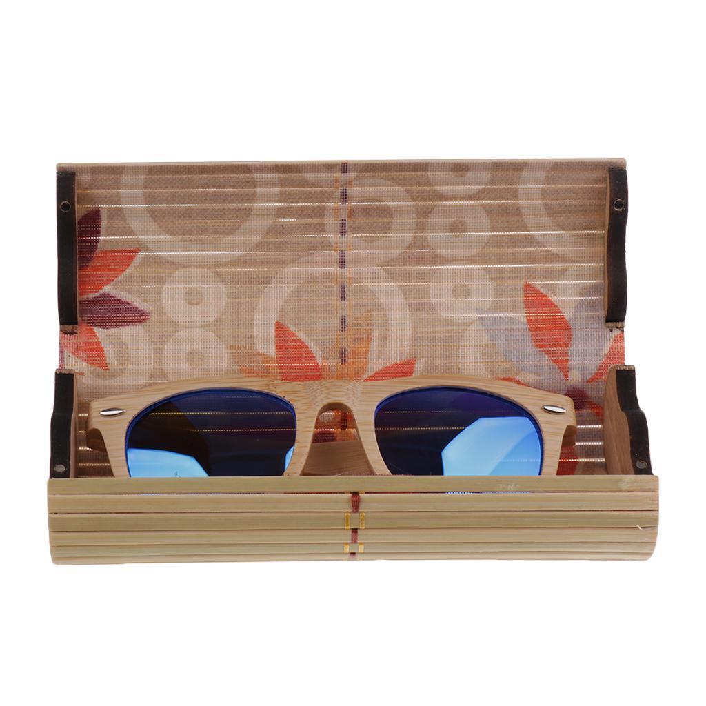 Bamboo UV 400 Polarized Sunglasses Wood Mens Womens Glasses Wooden Box