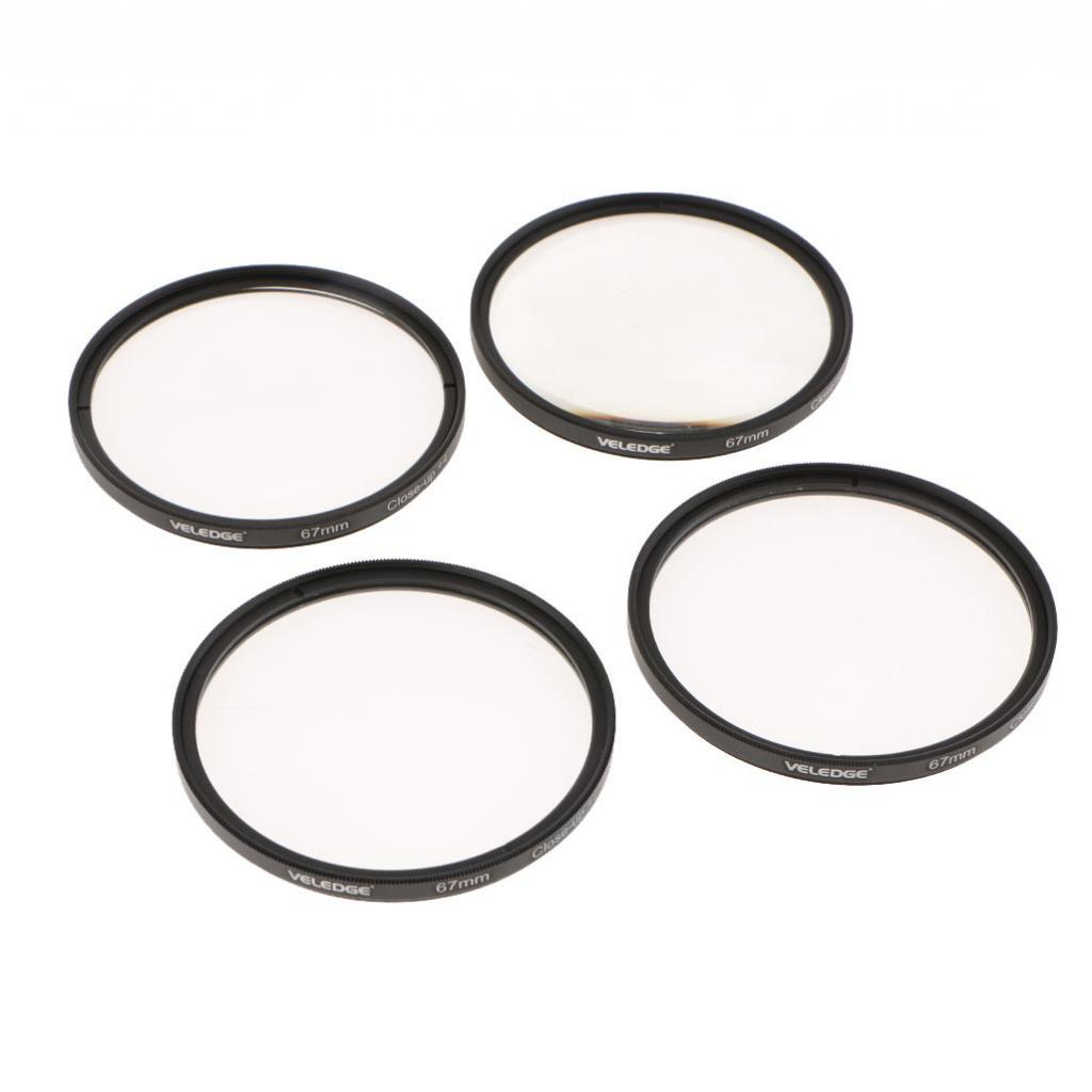 Close Up Lens Filter Set Kit for Canon Nikon Sony Zoom Lenses 58mm 67mm 77mm