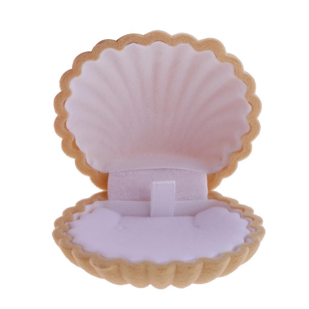 Shell Form Ring Ohrring Halskette Anhänger Geschenkbox für Hochzeit