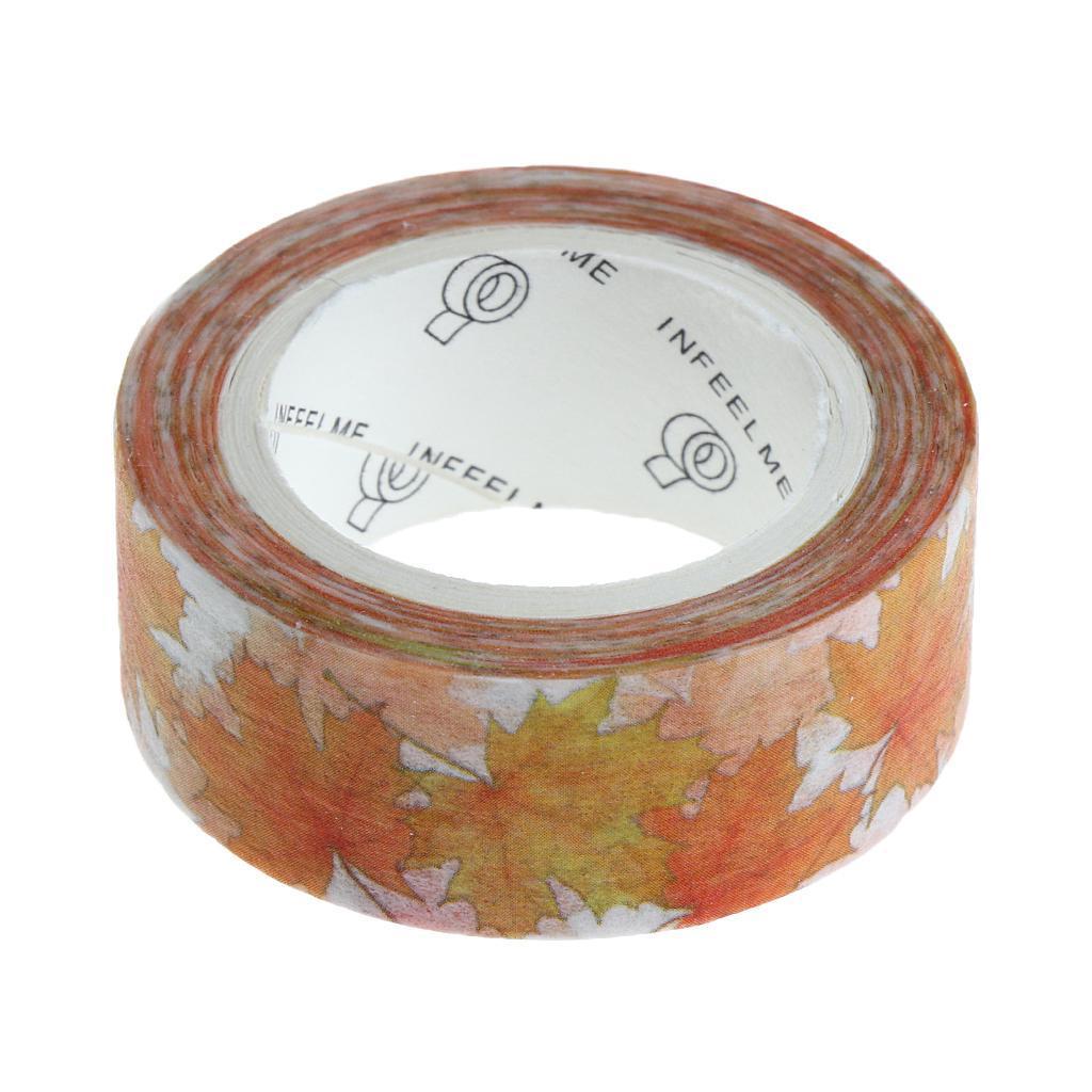 Floral Pattern Paper Masking Tapes Album Diary Decorative Scrapbook DIY Crafts