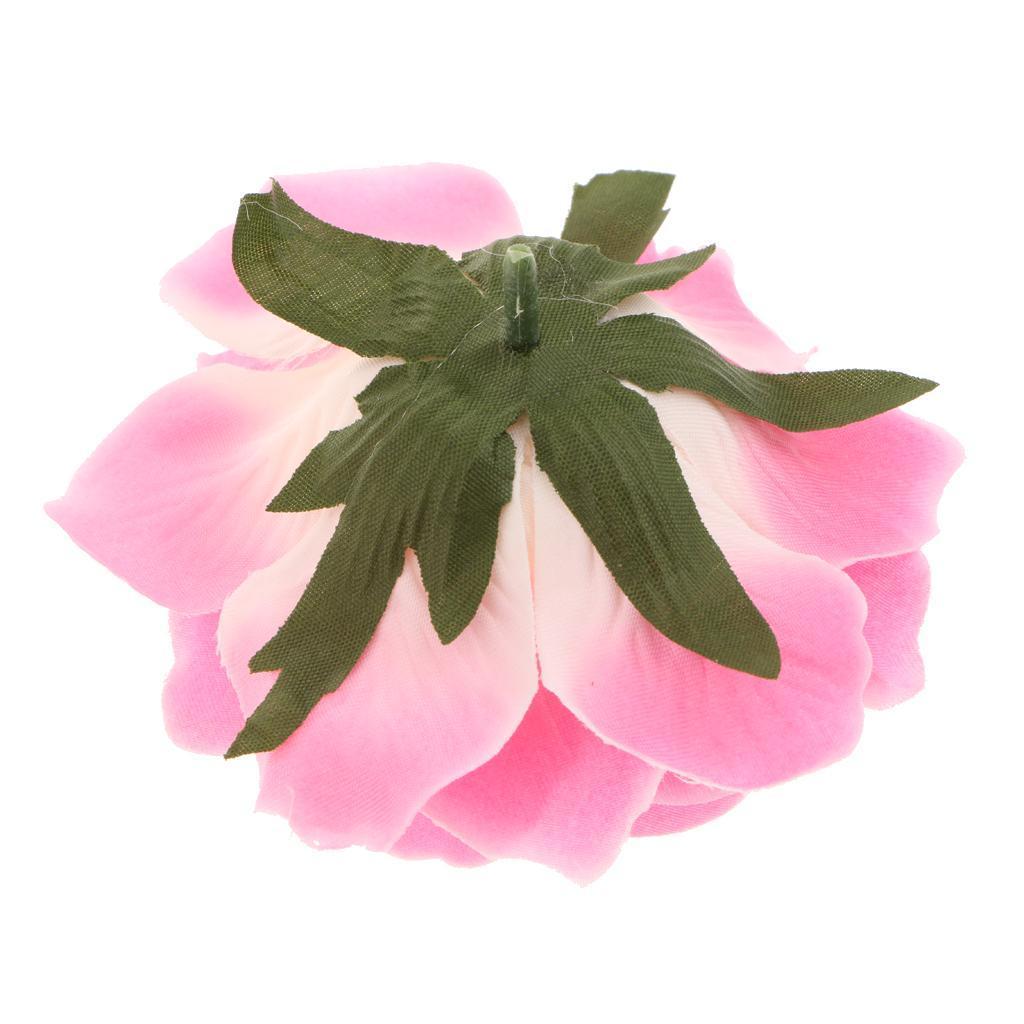 5x Künstliche Rose Köpfe Blumenstrauß Kunstblumen Seidenblumen DIY Bouquet Deko