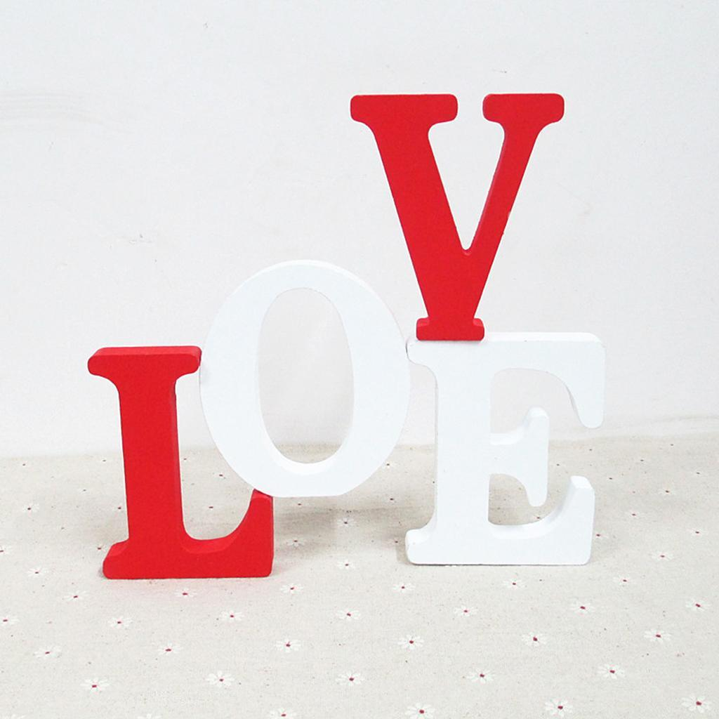 Wooden Block LOVE Sign Decorative Wooden Cutout Letters for Wedding Party
