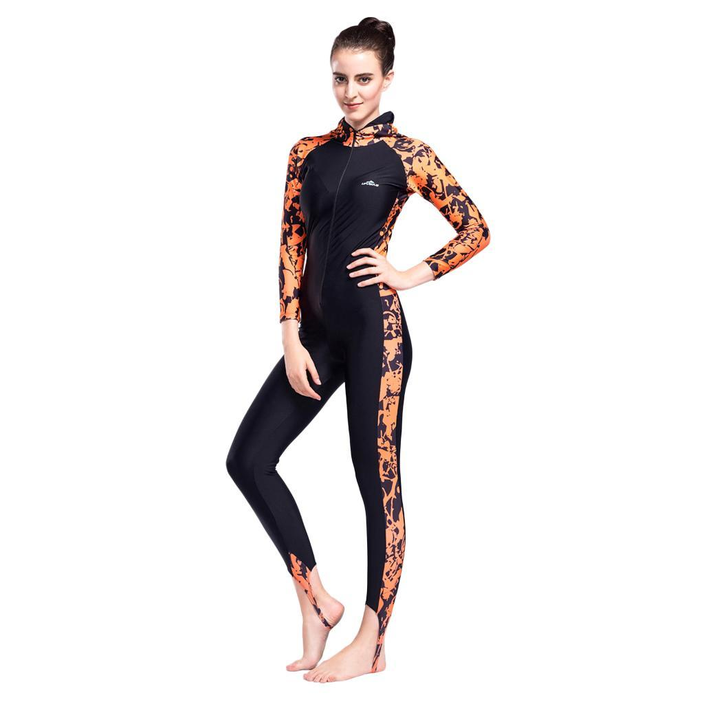 Elastic Long-Sleeve Swimwear Swimsuit Wetsuit Rash Guard Jumpsuit Skinsuit
