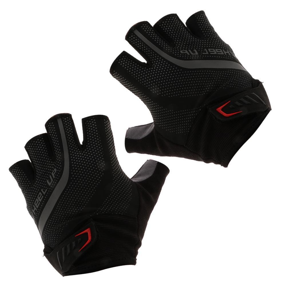 Unisex Sports Cycling Racing Bike Gel Finger Bicycle Fingerless Gloves M-XXL