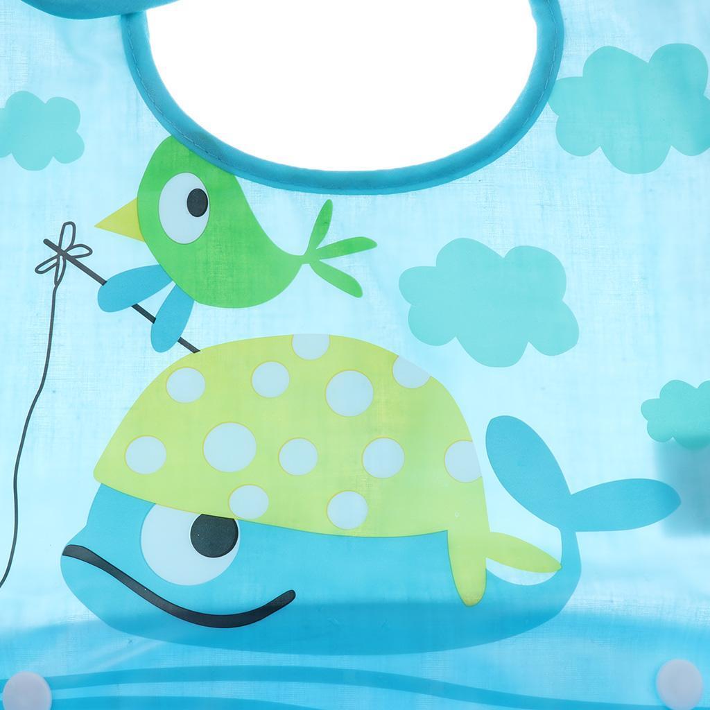 Weiches Silikon+Baumwoll Baby Lätzchen mit Auffangschale Kinder Latz Cartoon
