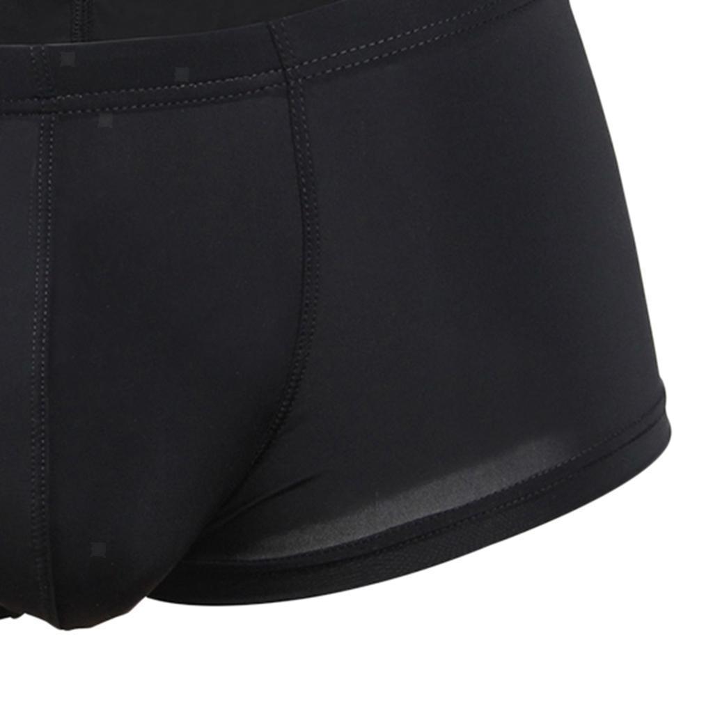 Herren Boxershort weiche Unterwäsche Transparente Boxer Briefs Unterhose