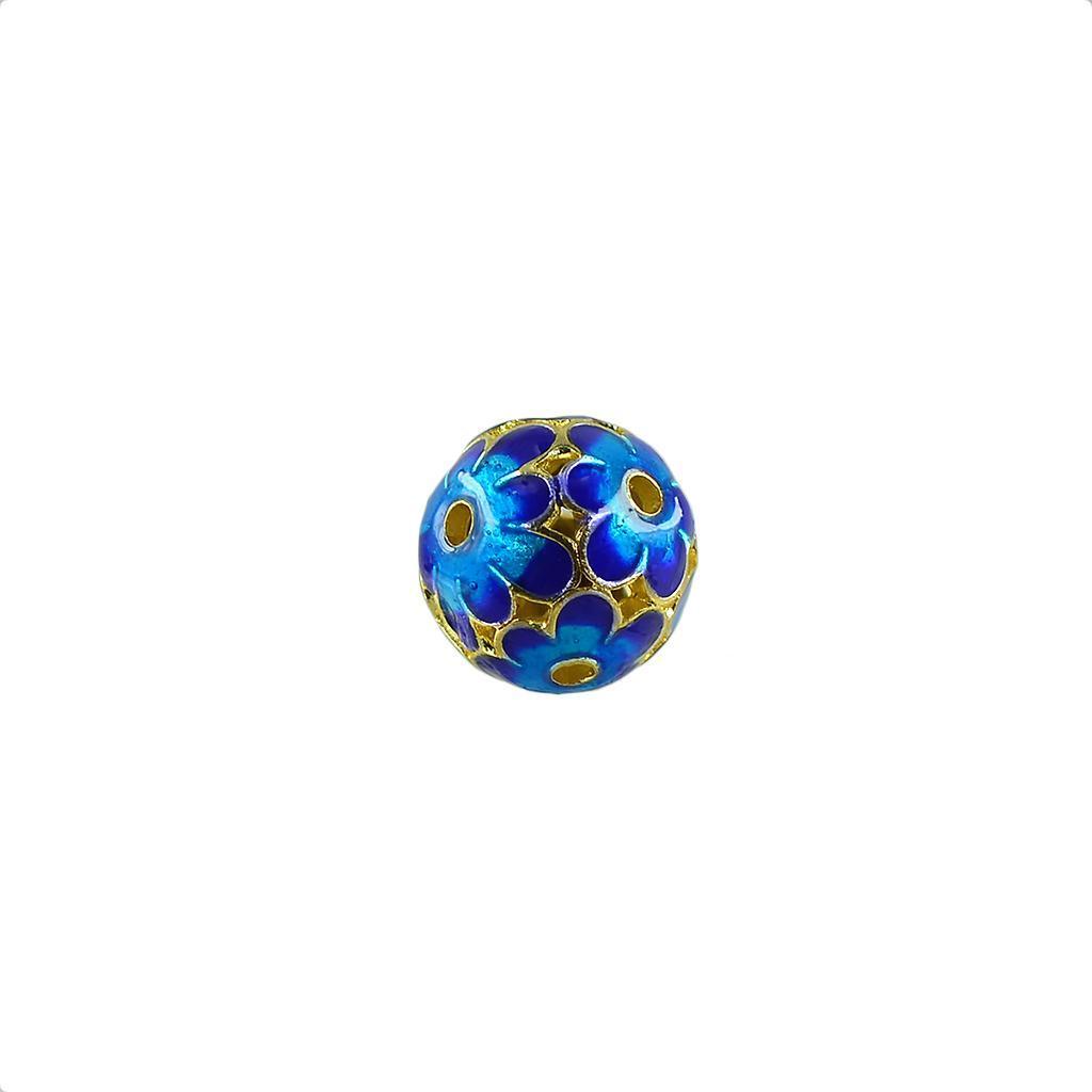 6pcs filigrane plaqué or Spacer Beads Perles rondes pour À faire soi-même Collier Bracelet