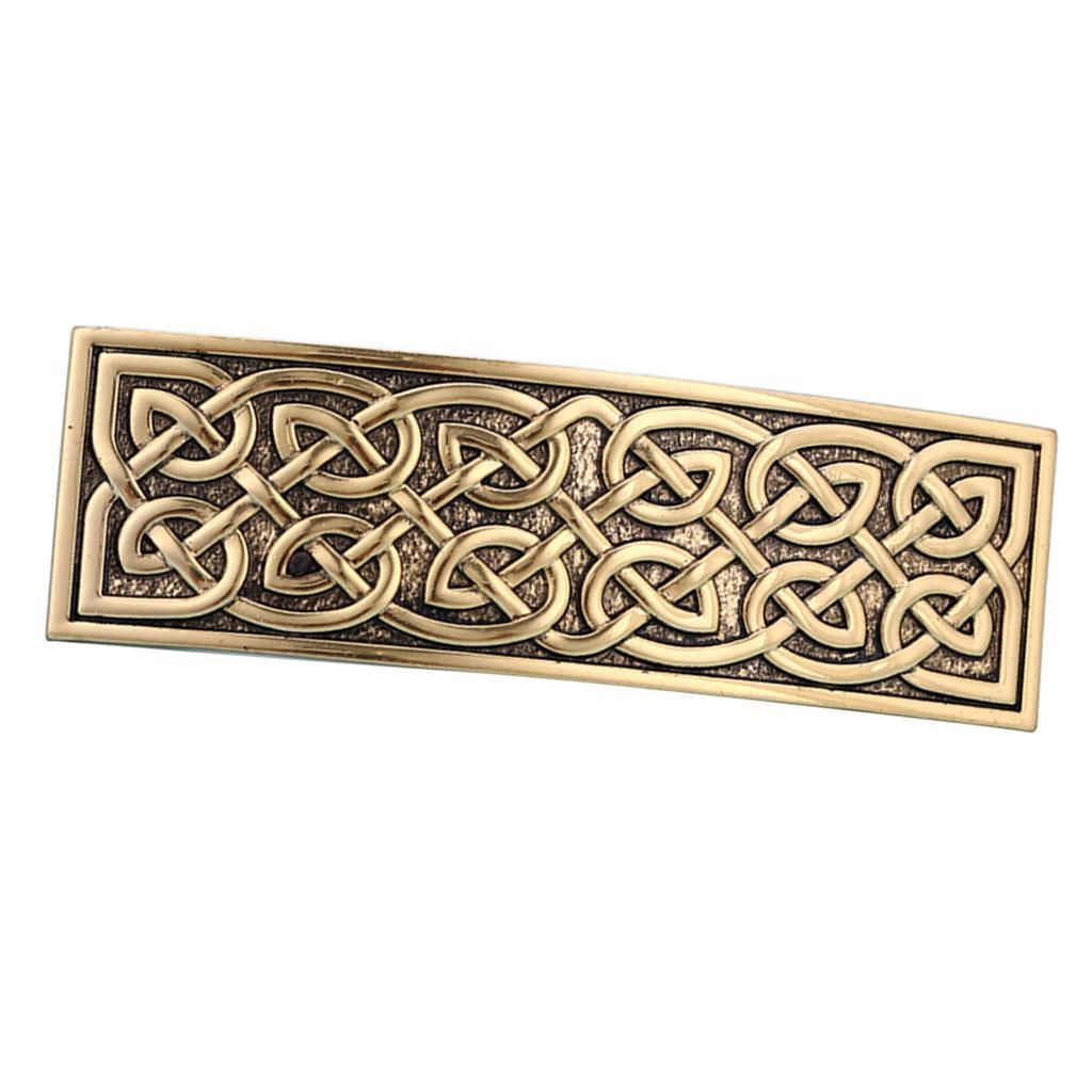Vintage Style große keltische Haarspange handgefertigte Metallspange