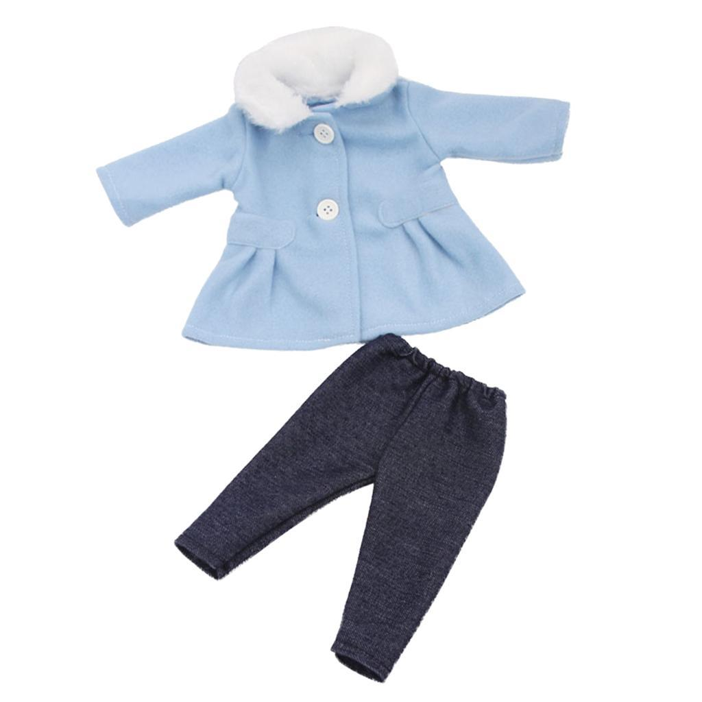 Charming Princess Winter Coat Pants for 18inch American Doll Dress Up Decor
