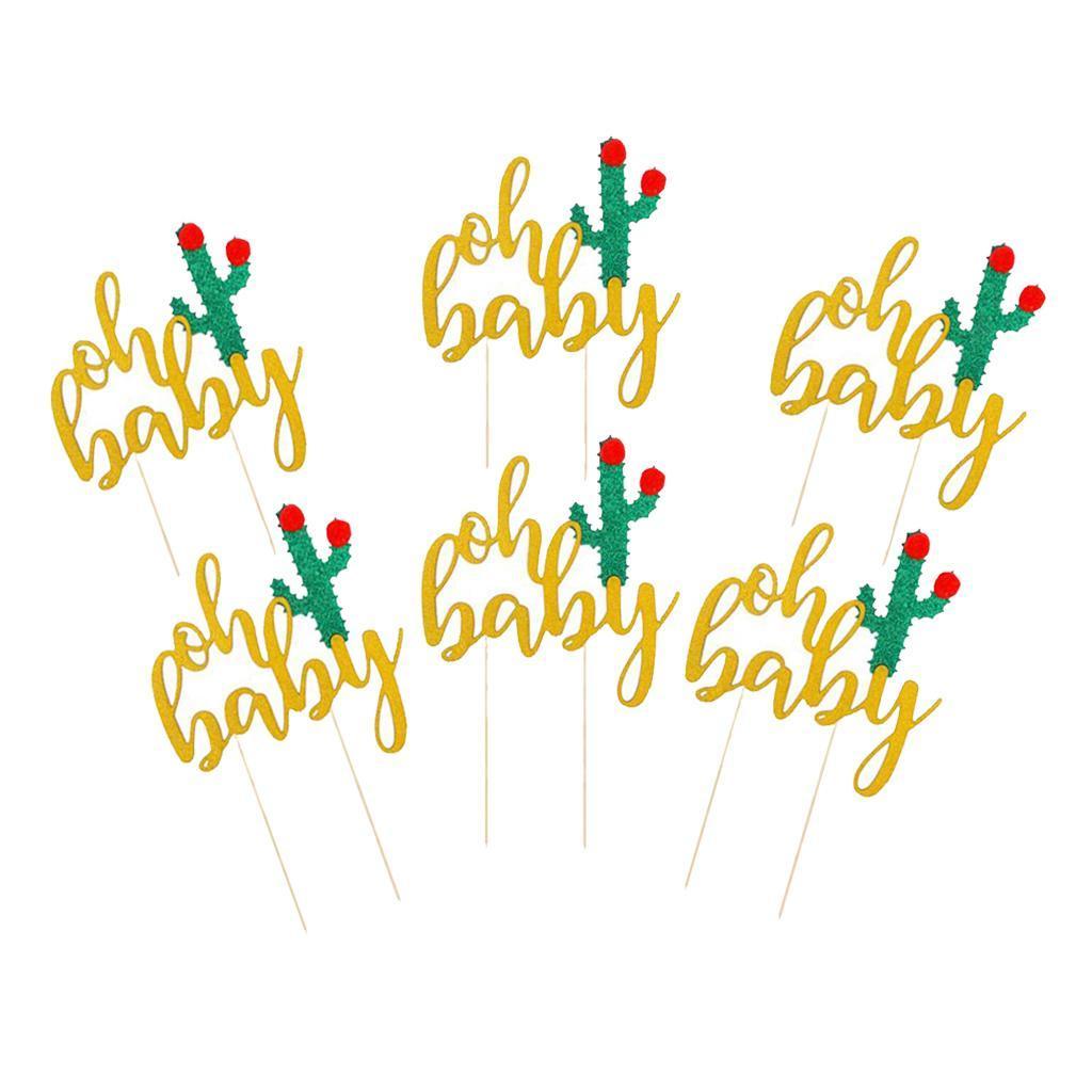 6pcs Kuchendekoration Cake Topper für Babyparty Mädchen Baby Shower Deko