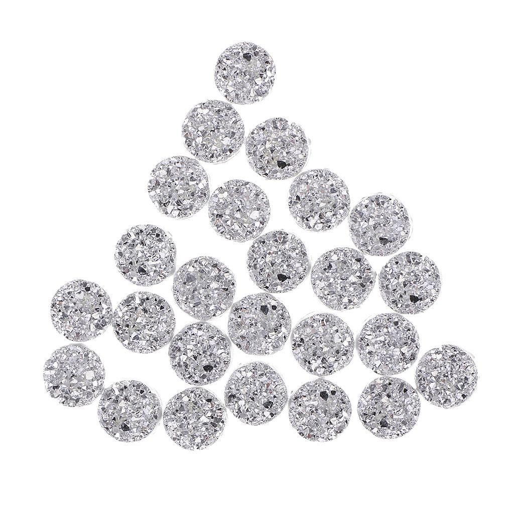 12mm Sparkling Resin Round  Rhinestone Craft for Wedding Dress//Card Making