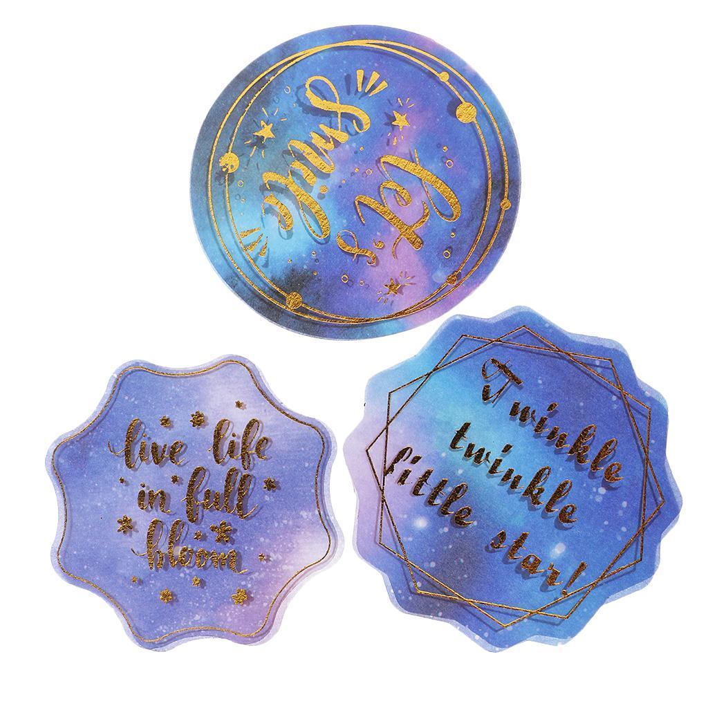 60Pcs Gilding Decorative Washi Stickers Scrapbooking Stick Label Diary Decor
