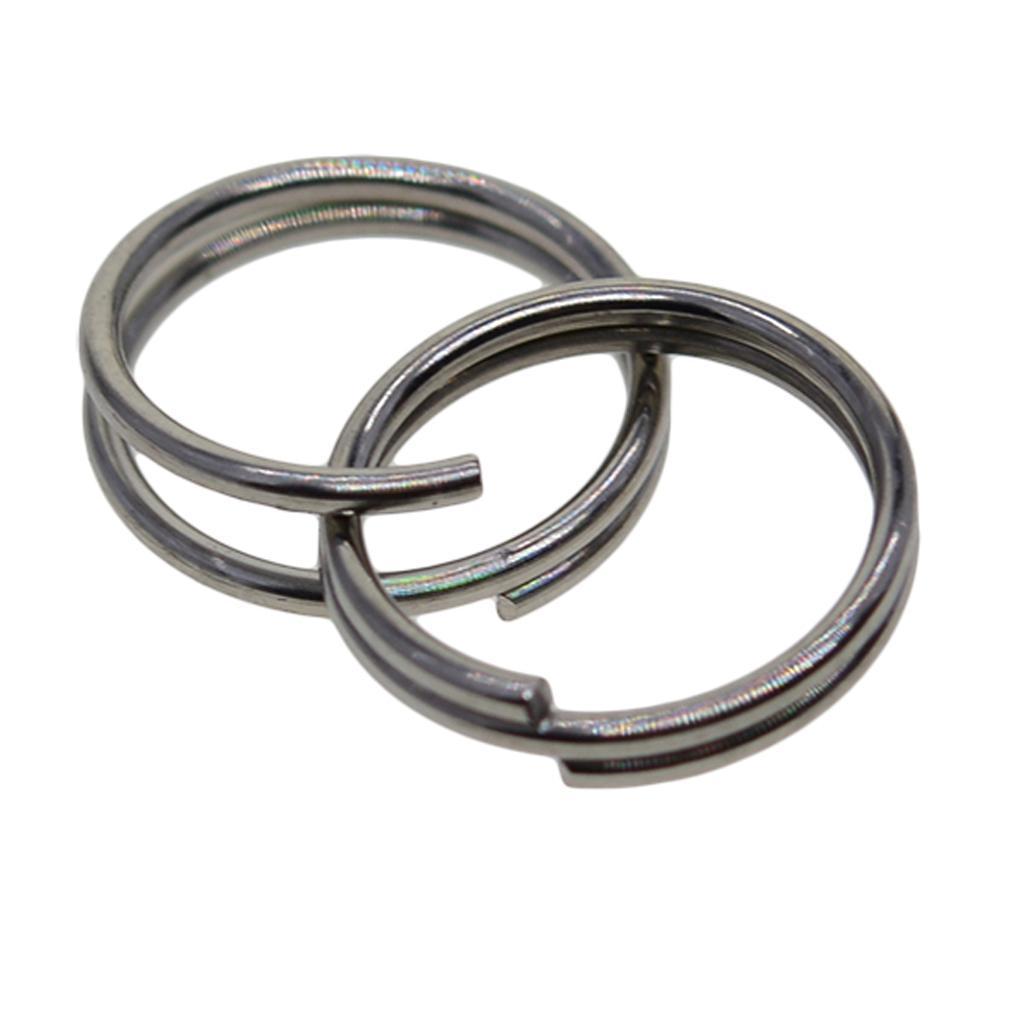 500pcs Spaltringe Spiralringe Schlüsselringe Flachschlüssel Ringe Silber